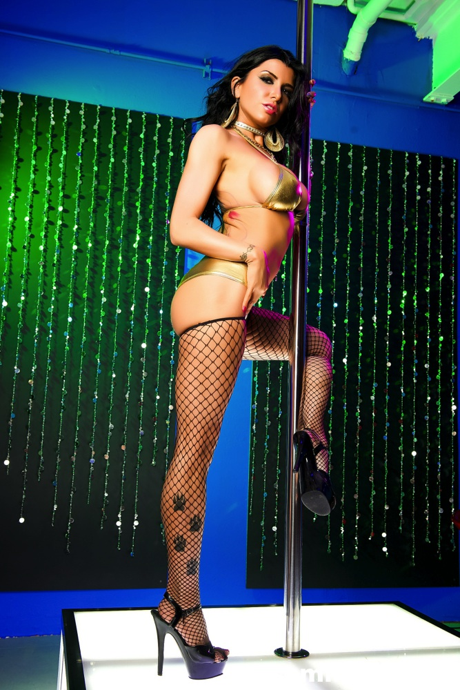 Romi gets nasty on the stripper pole  romi gets nasty on the