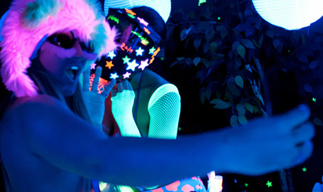 Romi amp dani sapphic blacklight fsex  romi amp dani sapphic blacklight fun. Romi & Dani lesbian black-light fun